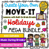 EDITABLE Move It Bundle - Holidays