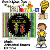 EDITABLE  Move It - Cinco de Mayo Brain Breaks