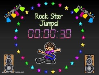 EDITABLE Move It Rock Star Theme - Brain Breaks