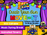 EDITABLE Move It Rock Star Theme - Brain Breaks
