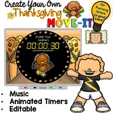 EDITABLE  Move It - Thanksgiving Brain Breaks