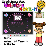 EDITABLE  Move It - Valentine Brain Breaks