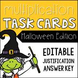 EDITABLE Multiplication Task Cards - Halloween Edition