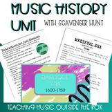 EDITABLE Music History Unit with Prezis & Scavenger Hunt f