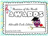 **EDITABLE** Musician of the Month Award Certificates- Ado