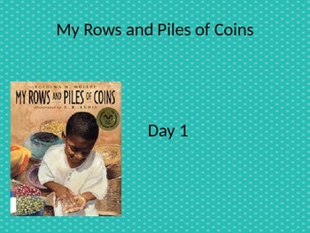 EDITABLE My Rows and Piles of Coins powerpoint and interactive notebook
