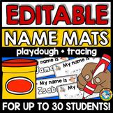 EDITABLE NAME PRACTICE SHEET MAT (BACK TO SCHOOL ACTIVITY
