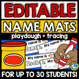 EDITABLE NAME TRACING WRITING PRACTICE ACTIVITY PLAYDOUGH MATS KINDERGARTEN PREK