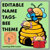 EDITABLE NAME TAGS BEE THEME