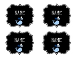 EDITABLE NAME or LOCKER TAGS