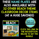 EDITABLE NAMEPLATES for BEACH THEME by CLUTTER FREE CLASSROOM