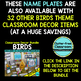EDITABLE NAMEPLATES for BIRD THEME by CLUTTER FREE CLASSROOM