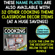 EDITABLE NAMEPLATES for COOKING THEME by CLUTTER FREE CLASSROOM