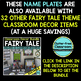 EDITABLE NAMEPLATES for FAIRY TALE THEME by CLUTTER FREE CLASSROOM