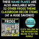 EDITABLE NAMEPLATES for FROG THEME by CLUTTER FREE CLASSROOM