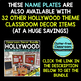 EDITABLE NAMEPLATES for HOLLYWOOD THEME by CLUTTER FREE CLASSROOM