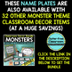 EDITABLE NAMEPLATES for MONSTER THEME by CLUTTER FREE CLASSROOM