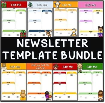EDITABLE NEWSLETTER TEMPLATES | Bundle