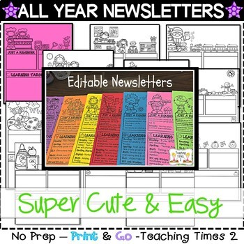 EDITABLE NEWSLETTER TEMPLATES for ALL YEAR-WEEKLY and MONTHLY