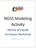 EDITABLE NGSS Modeling Density of Liquids Animation Worksheet