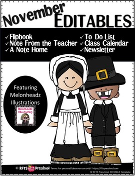 EDITABLE NOVEMBER -FLIP BOOKS - MONTHLY NEWSLETTERS - CALENDARS  - TO-DO-LIST