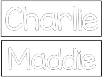 EDITABLE Name Mats for Preschool, Pre-K, and Kindergarte