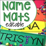 EDITABLE Name Mats for Preschool, Pre-K, and Kindergarten