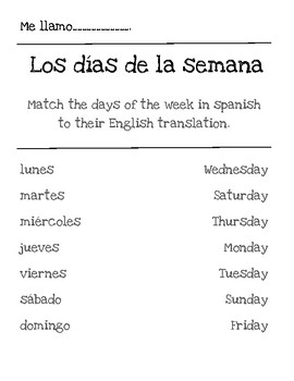 Beginner Spanish Activities