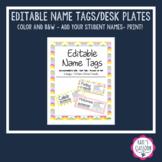 EDITABLE Name Plates - Tags