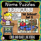 EDITABLE Name Practice Activity Puzzles