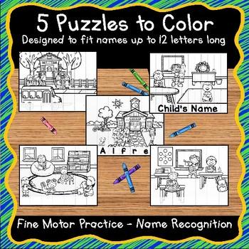 EDITABLE Name Practice Activity Puzzles
