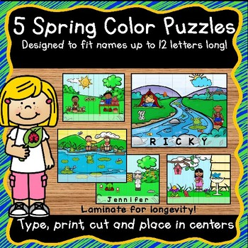 EDITABLE Name Practice Activity - Set 2 for Spring