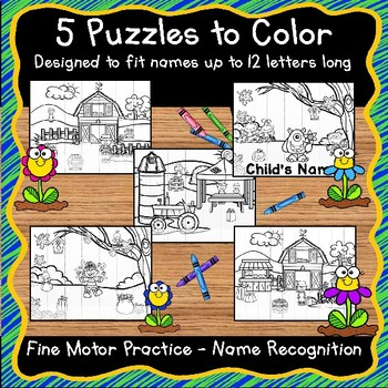 EDITABLE Name Practice Activity Puzzles for Fall