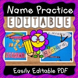 EDITABLE Name Practice Activity for Back to School