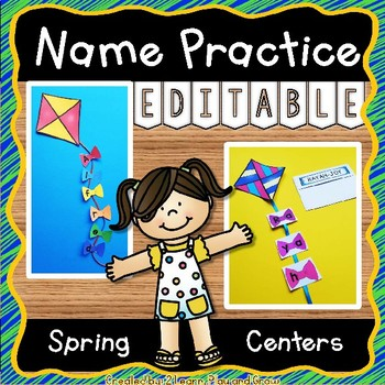EDITABLE Name Practice Activity for Spring Kites