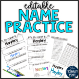 EDITABLE Name Practice Sheets