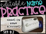 EDITABLE Name Practice Sheets & Hands-on Name Practice Activities (Set #2)