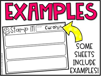 EDITABLE Name Practice Sheets & Hands-on Name Practice Activities (Set #3)
