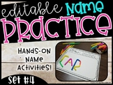 EDITABLE Name Practice Sheets & Hands-on Name Practice Activities (Set #4)