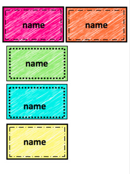 EDITABLE Name Tag Template
