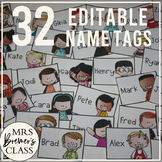 EDITABLE Name Tags {32 Different Options}