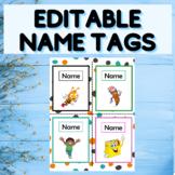EDITABLE Name Tags - Desk Name Tags - Student Name Labels