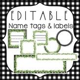 EDITABLE Name Tags {Farmhouse Name Tags} Editable Labels
