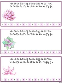 EDITABLE Name Tags {Succulents}