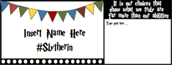 EDITABLE Name Tags - bright, rainbow, harry potter, and more!