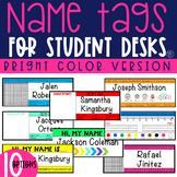 EDITABLE Name Tags for Student Desks / Desk Plates
