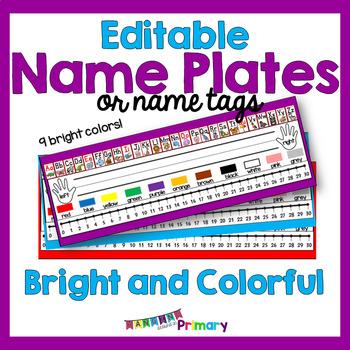 EDITABLE Name Tags or Name Plates