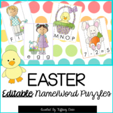 EDITABLE Name and Word Puzzles - Easter