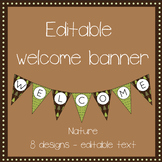 EDITABLE Nature welcome banner