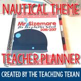 EDITABLE Nautical Theme Teacher Planner